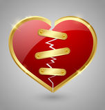 Broken and repaired heart icon Stock Image