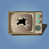 Broken retro old tv vector Stock Image