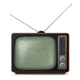 broken retro tv royaltyfri illustrationer