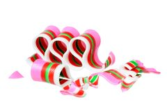 Broken ribbon candy Royalty Free Stock Image