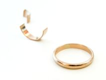 Broken ring Royalty Free Stock Photography
