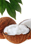 Broken ripe coconut Stock Images