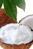 Broken ripe coconut Stock Photo