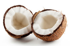 Broken ripe coconut Royalty Free Stock Image
