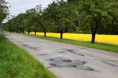Broken road Stock Photography