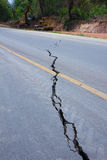 Broken road by an earthquake in Chiang Rai, thailand Stock Images