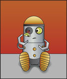 broken robot Royaltyfria Bilder