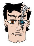 Broken robot face Stock Photo