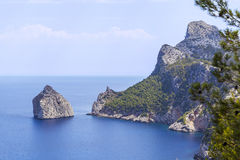 Broken rock near Cape Formentor, Majorca Stock Image