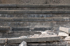 Broken Rock Staircase. Close up Shot of Broken Rock Staircase Royalty Free Stock Photos
