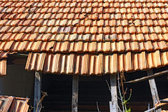 Broken Roof Royalty Free Stock Photography