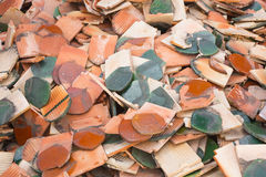 Broken roof tile Royalty Free Stock Photo