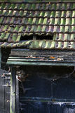 Broken roof tiles Royalty Free Stock Photos