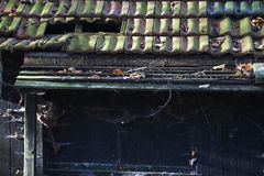Broken roof tiles Royalty Free Stock Images