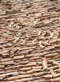 Broken roof tiles Stock Images