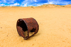 Broken rusty can Stock Images