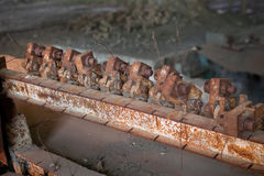 Broken rusty mechanism Royalty Free Stock Photo