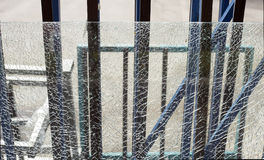 Broken safety glass Royalty Free Stock Photos