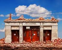 Broken school Stock Photos