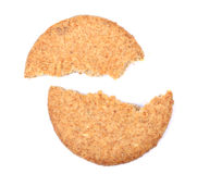Broken Scottish oatcake Royalty Free Stock Photos