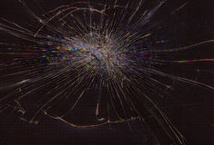 Broken screen. Cracked glass of broken lcd matrix display screen, macro royalty free stock photo