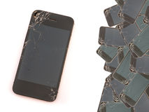 Broken screen phone for background.  royalty free stock image