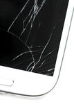 Broken screen smart phone Stock Images