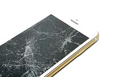 Broken screen royalty free stock photo