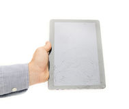 Broken screen tablet Royalty Free Stock Image