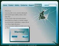 Broken screen web design elements. Vector illustration Royalty Free Stock Photo