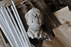 Broken sculpture head of adult man Stock Photography