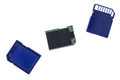 Broken SDHC memory card Royalty Free Stock Photography