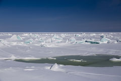Broken sea ice blue Royalty Free Stock Photography