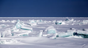 Broken sea ice blue. The wreckage of the ice blue color of the sea Stock Photos