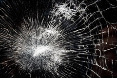 Broken, Shattered Glass Royalty Free Stock Image