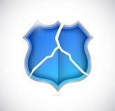 Broken shield illustration design Royalty Free Stock Photos