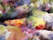 Broken Ships av drömmen Arkivbilder
