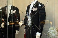 Broken shop-window Stock Images