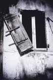 Broken shutter, Greece Stock Images