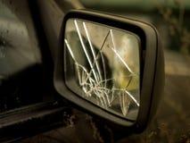 Broken side car side mirror stock images