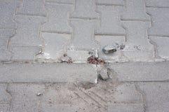 Broken sidewalk Stock Image