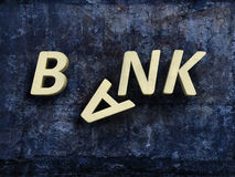 Broken sign bank Stock Images