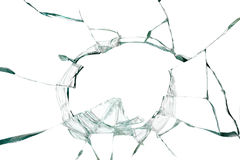 Broken silicate glass background Royalty Free Stock Photos