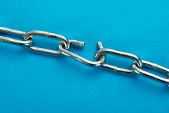 Broken Silver Chain Royalty Free Stock Photo