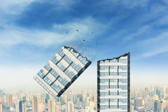 Broken skyscraper Stock Images