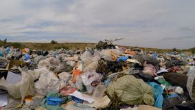 Broken Slates Among Garbage Dumped Into Heap At stock footage