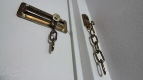 Broken sliding door chain lock