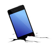 Broken smart phone Stock Photography
