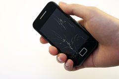 Broken smart phone Royalty Free Stock Photos