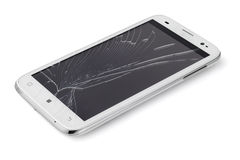 Broken Smart phone Royalty Free Stock Image